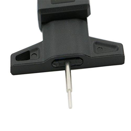 furgoni Camion misuratore di misuratore di battistrada LCD misuratore del battistrada precarico 0-1 Pollici per Auto MAyouth Misuratore di profondit/à del battistrada