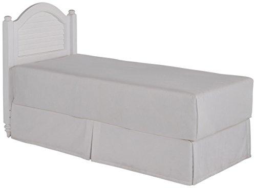 (Bermuda White Brushed Twin Headboard by Home Styles)
