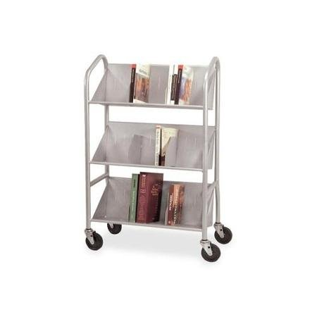 Buddy Sloped Shelf Book Cart with Dividers BDY54143 by Supernon