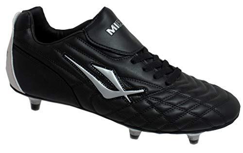 Mirak Mirak Boys Forward Screw-In Studded Football Rugby Sports Boot Black Black Man-Made UK Size 5 (EU 38)