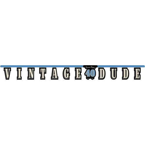 Creative Converting Vintage Dude 40th Birthday Jointed Letter Banner -