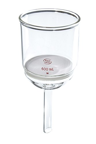 Wilmad-LabGlass LG-7080-144 Buchner Filter Funnel with Fritted Disc, 600mL, 90mmD Disc, Medium Porosity (Fritted Filter compare prices)