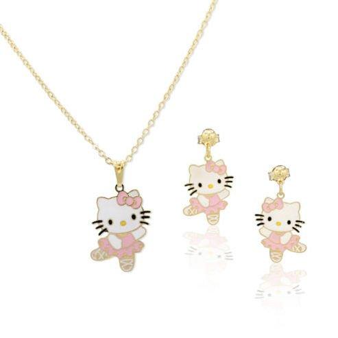 Bijoux Kids-Juego de cama para joyas, diseño de Hello Kitty bailarina Ton, color rosa, color dorado