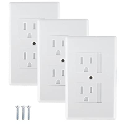 Mommy's Helper Safe Plate Electrical Outlet Covers Standard, White