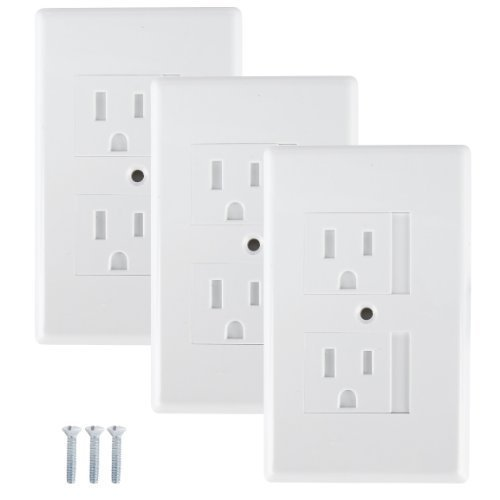 Safe Plate Outlet Covers White - 3 Pack