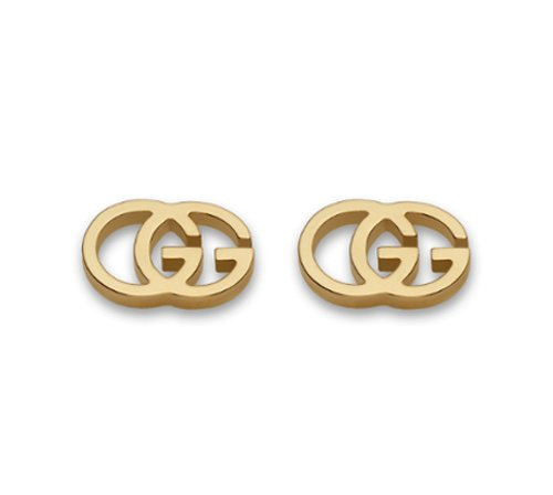 Gucci 18K Yellow Gold Double G Earrings - Gold