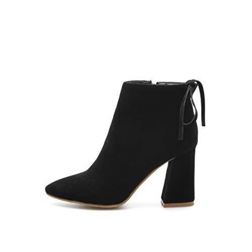 Invierno Botas Black Altas Mujer Tacones Zapatos Cortas wH4cq