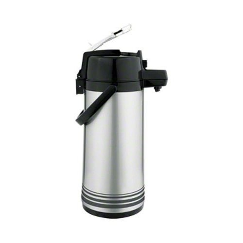 Update Airpot (Update International  LSVL-25/BK/SF S/S Airpot 2.5L,Plst Lever SF Black)