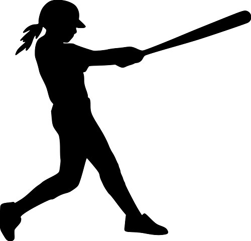 Minglewood Trading Softball Player Vinyl Decal Sticker 5