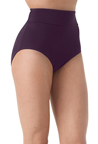 Balera Briefs Girls For Dance Womens High Waist Trunks High Rise Bloomers Eggplant Adult X-Large
