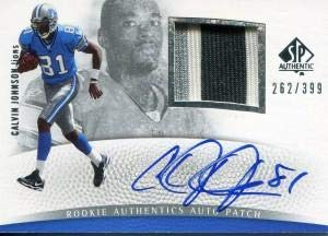 Calvin Johnson Autographed 2007 Upper Deck Sp Jersey Card - Football Autographed Game Used Cards ()