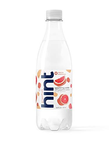 Hint Sparkling Water Grapefruit, (Pack of 12) 16.9 Ounce Bottles, Unsweetened Grapefruit-Infused Sparkling Water, Zero Sugar, Zero Calories, Zero Sweeteners, Zero Artificial ()