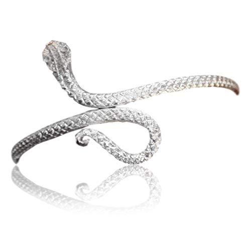 India Arts Unique Upper Arm Metal Bracelet Snake Armband Armlet Anklet Bangle Silver Tone (Bracelet Arm India)