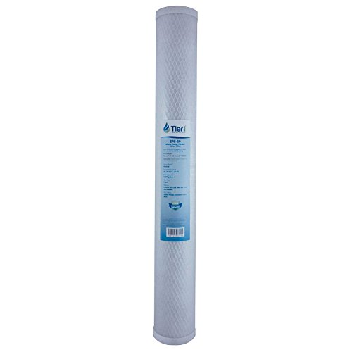 Tier1 EP-20 5 Micron 20 x 2.5 Activated Carbon Block Pentek Comparable Replacement Water Filter -