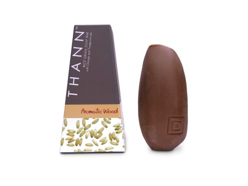 THANN Aromatic Wood Rice Grain Soap Bar 100 g. by THANN