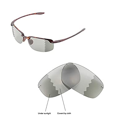 d6b89831c54 Walleva Replacement Lenses for Maui Jim Ho'okipa Sunglasses - Multiple  Options Available (Transition