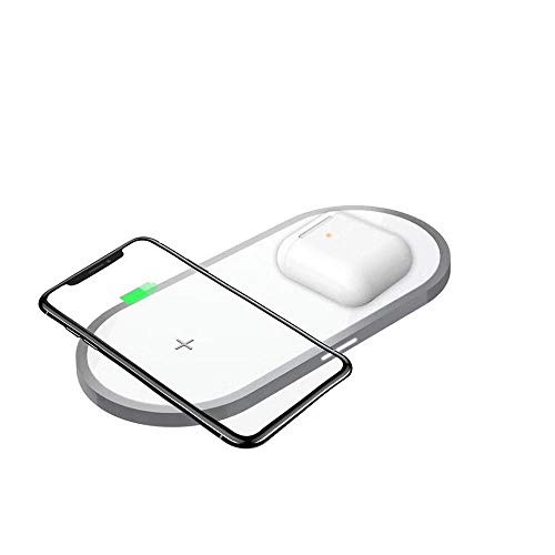 Hot Sale!UMFun Wireless Charger Pad Qi Wireless Charger Holder for Apple Airpods 2th for iPhone]()