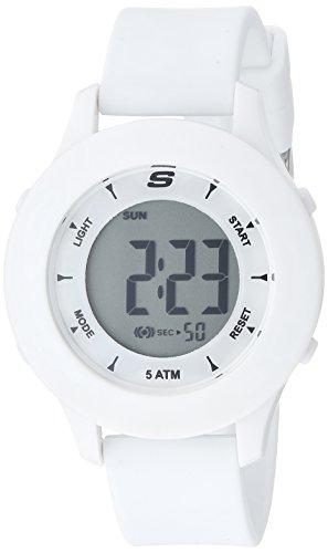 Skechers Women's Rosencrans Digi Quartz Plastic and Silicone Digital Watch Color: White (Model: SR6142)