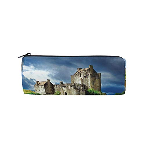 (Majestic Castles Pencil Pen Case Pouch Bag with Zipper for Girls Boys Kids School Student Stationery Office Supplies)