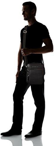Tommy B T x Reporter Corporate Hilfiger Mix Hombre 6x28x23 Negro Black cm Bolso H gvrgw4Hq