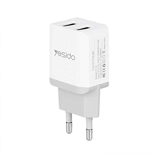 @FATO Yesido Mini Portable EU 2.1A Dual USB Fast Travel Charger with Micro USB Cable for Xiaomi Huawei