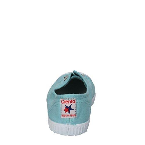 Cienta 70777 21/27 color beige unisex zapatos de la tela elástica azul celeste