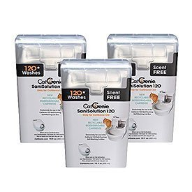 CatGenie 120 SaniSolution Smart Cartridge, Scent-Free by PetNovations 3-PACK