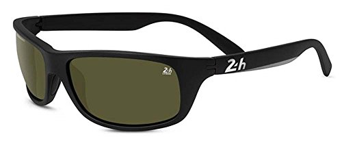 Serengeti Satin Sunglasses - Serengeti 4500 (Bormio) Hour Le Man - Satin Black, Polarized PhD 555NM