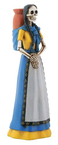 Blue Skeleton Senorita with
