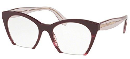 Eyeglasses Miu MU 3 QV Q041O1 VIOLET TRANSPARENT