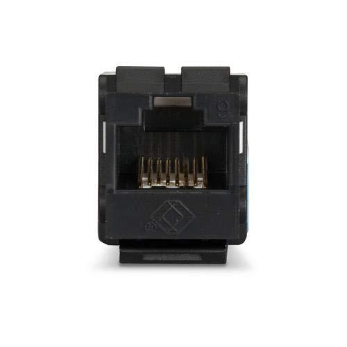 (Black Box FMT631-R3, Gigatrue2 Cat6 Unshielded Keystone Jack Black, Pack of 20 pcs)