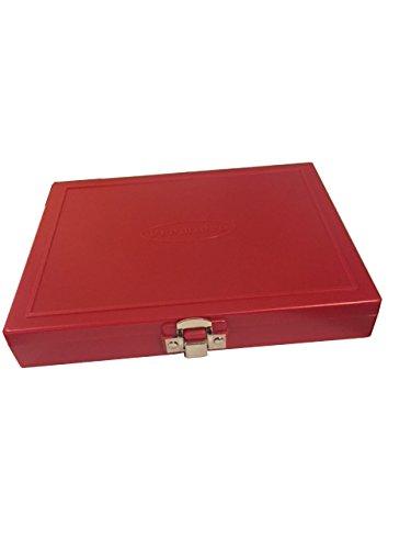 100 Capacity Slide Storage Box, Red. 97-0128