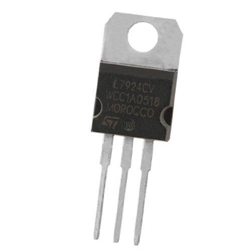 eDealMax 2 Pcs 3 Terminales de reguladores de voltaje negativo L7924CV 1.5A 24V