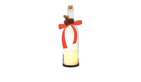 Premier de Navidad botella con retardante de vela Dancing - transparente: Amazon.es: Hogar