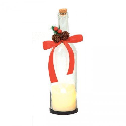 Premier de Navidad botella con Dancing Vela Flame - claro ...