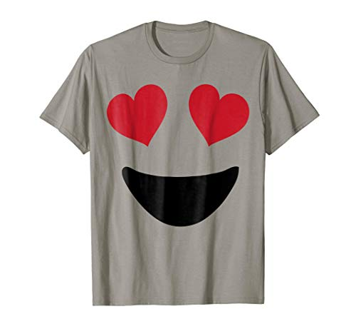 Emoji Shirt With Heart Eyes Big Smile Trending T Shirt ()