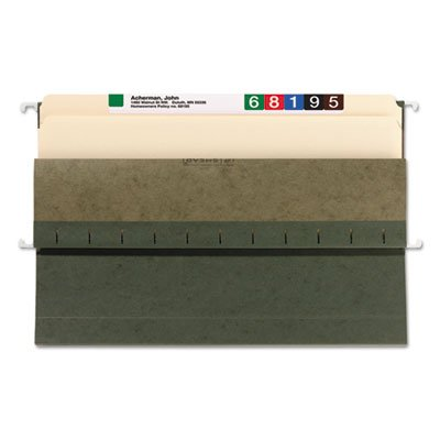 1 3/4 Inch Hanging File Pockets with Sides, Legal, Standard Green, 25/Box, Sold as 25 Each