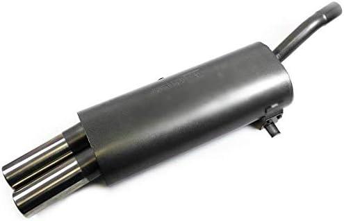 1026154 Sportauspuff 2x76mm f/ür 3er E30 4-Zyl 316 318 rund geb/ördelt EG ABE