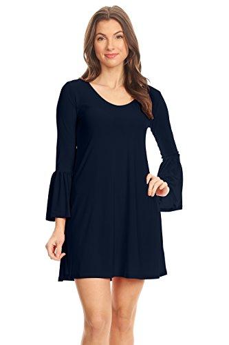 mini dress bell sleeves - 1