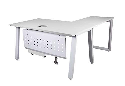 Mahmayi Bentuk 139-16L White Modern Workstation