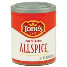 Tones Ground Allspice - 0.6 oz. jar, 144 per case