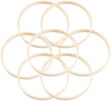 SUPVOX 20pcs Dream Catcher Ring 20cm Bamboo Hoops for Gifts Crafts Making Decoration