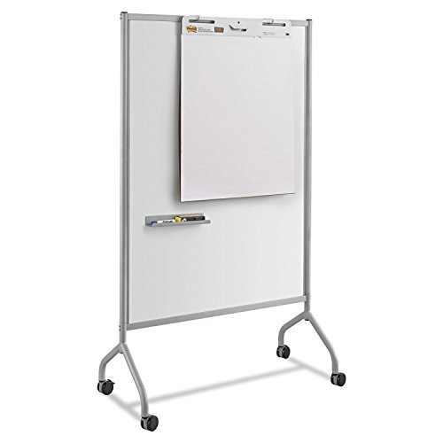 Safco 8511GR Impromptu Magnetic Whiteboard Collaboration Screen 42w x 21 1/2d x 72h Gray by Office Realm