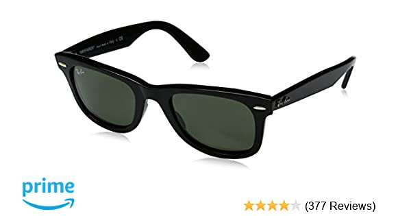 72c9ece778a Amazon.com  Ray-Ban Unisex-Adult Wayfarer 2140 Square Sunglasses ...