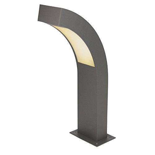 Heitronic LED Sockelleuchte Aronde 2, Schwarz, Aluminium/ Kunststoff, 35942