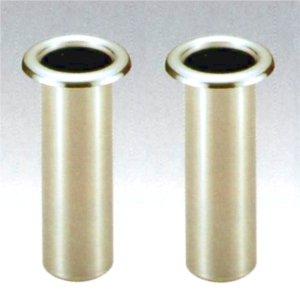 お墓用花立 高級ステンレス製 中入れ式 ツバなし 筒径:68mm リング下深さ:190mm 1対2本セット [S-68] B007MW07OI