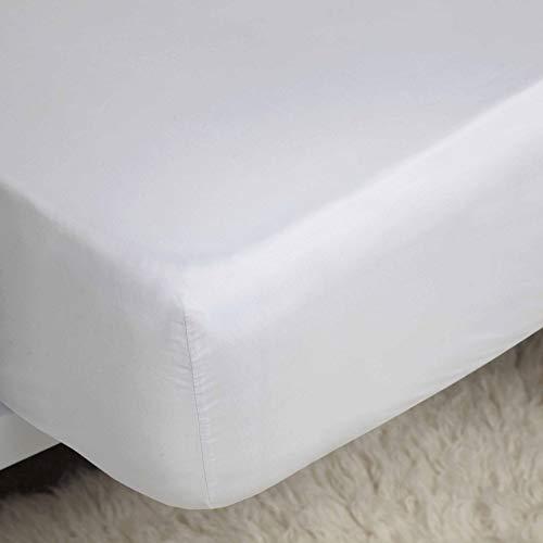 Belledorm 100% Cotton Sateen Fitted Sheet (Full) (White)