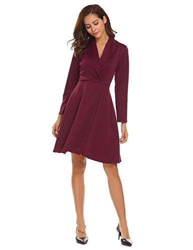 Collar Swing Coat - Bifast Women Big Lapel Collar Swing Hem Thick Woolen Trench Coat Overcoat Large