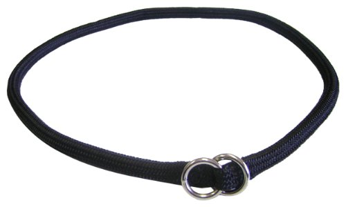 Hamilton 3/8 Inch x 26 Inch Round Braided Choke Nylon Dog Collar, Black (832 BK), My Pet Supplies