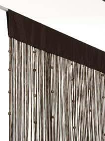 2Lif Helena - Cortina de cuentas para puerta (90 x 250 cm), diseño con perlas de cobre